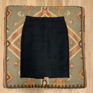 J.Crew no.2 Pencil Skirt in Black 00